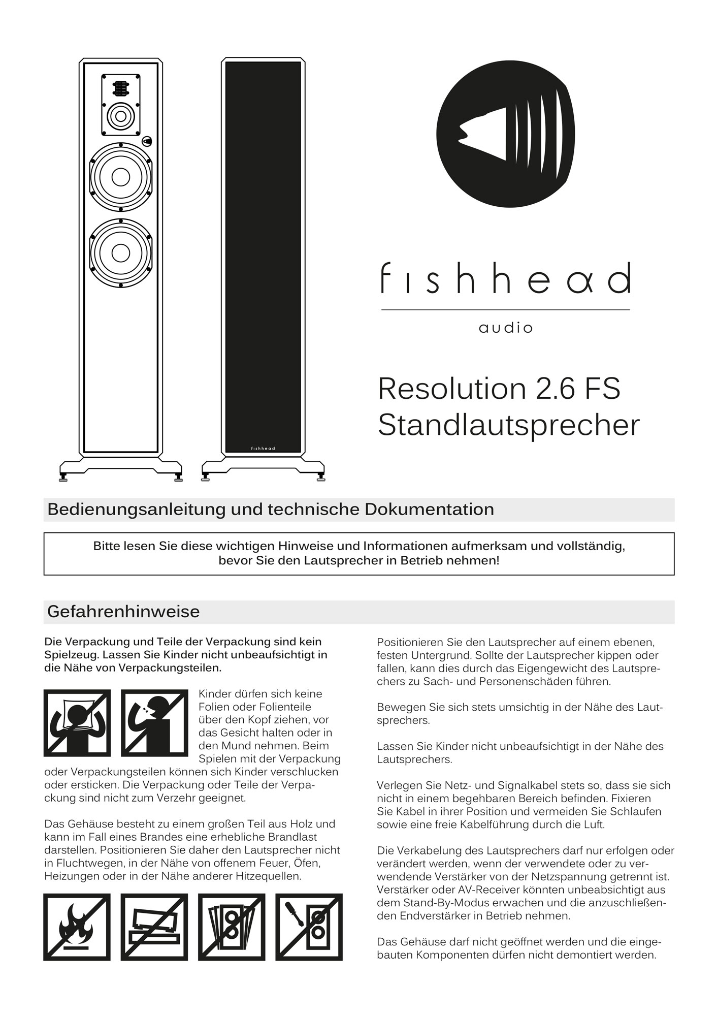 Fishhead Audio Resolution 2.6 FS - Manual
