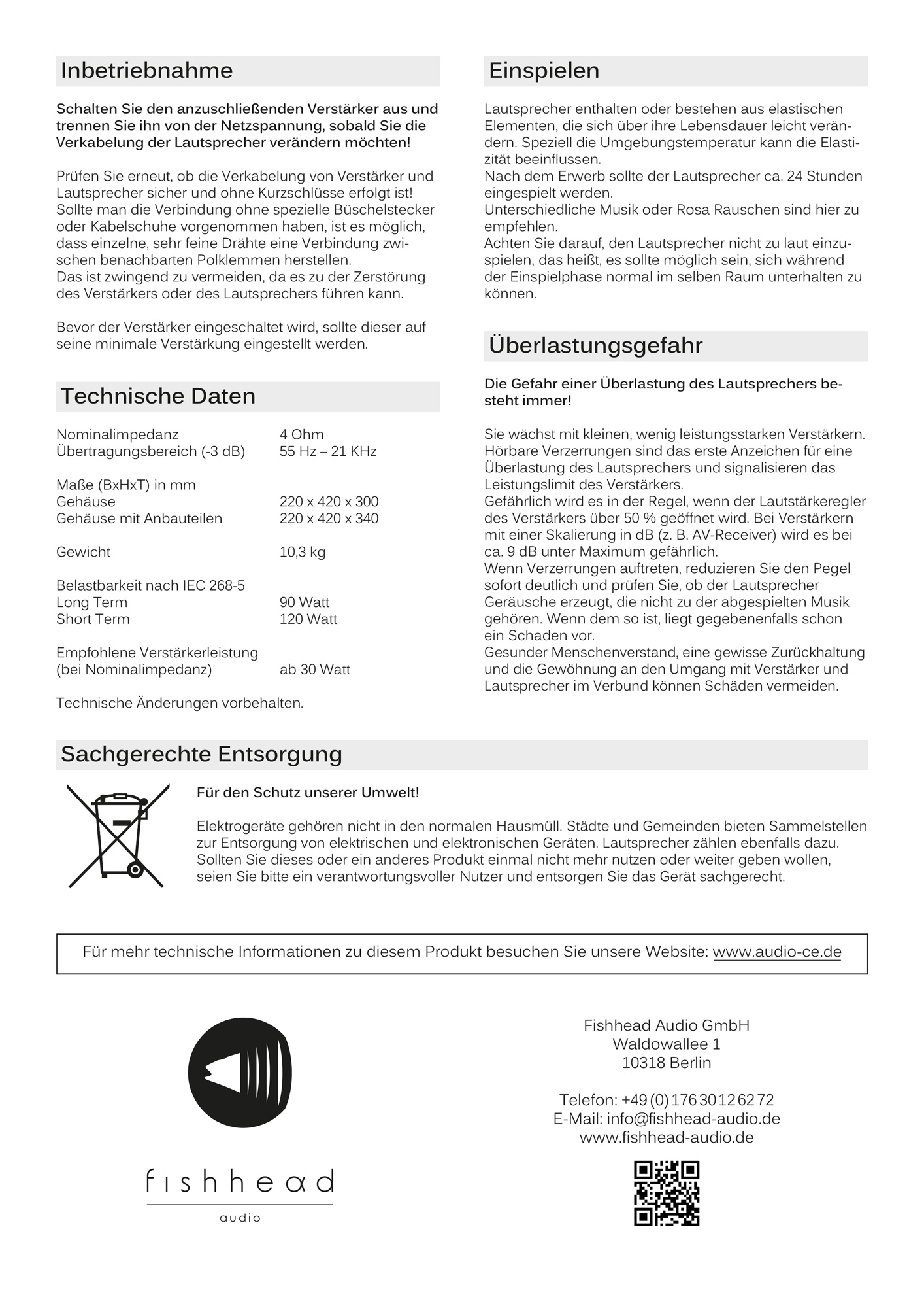 Fishhead Audio Resolution 1.6 BS - Manual