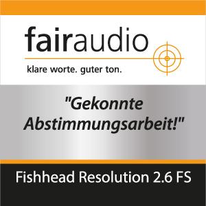 Fishhead Audio Resolution 2.6 FS Lautsprecher im Test: fairaudio.de - gekonnte Abstimmungsarbeit
