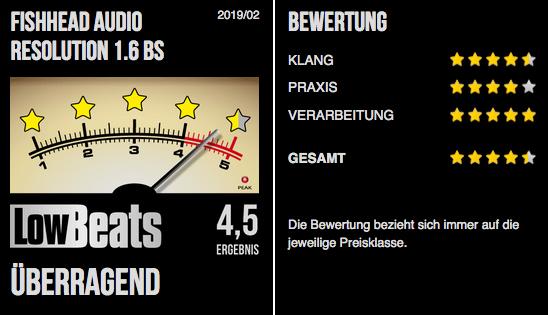 Test: Fishhead Audio Resolution 1.6 BS von LowBeats - überragend