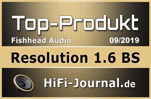 Test: Fishhead Audio Resolution 1.6 BS von HiFi-Journal - Top-Produkt