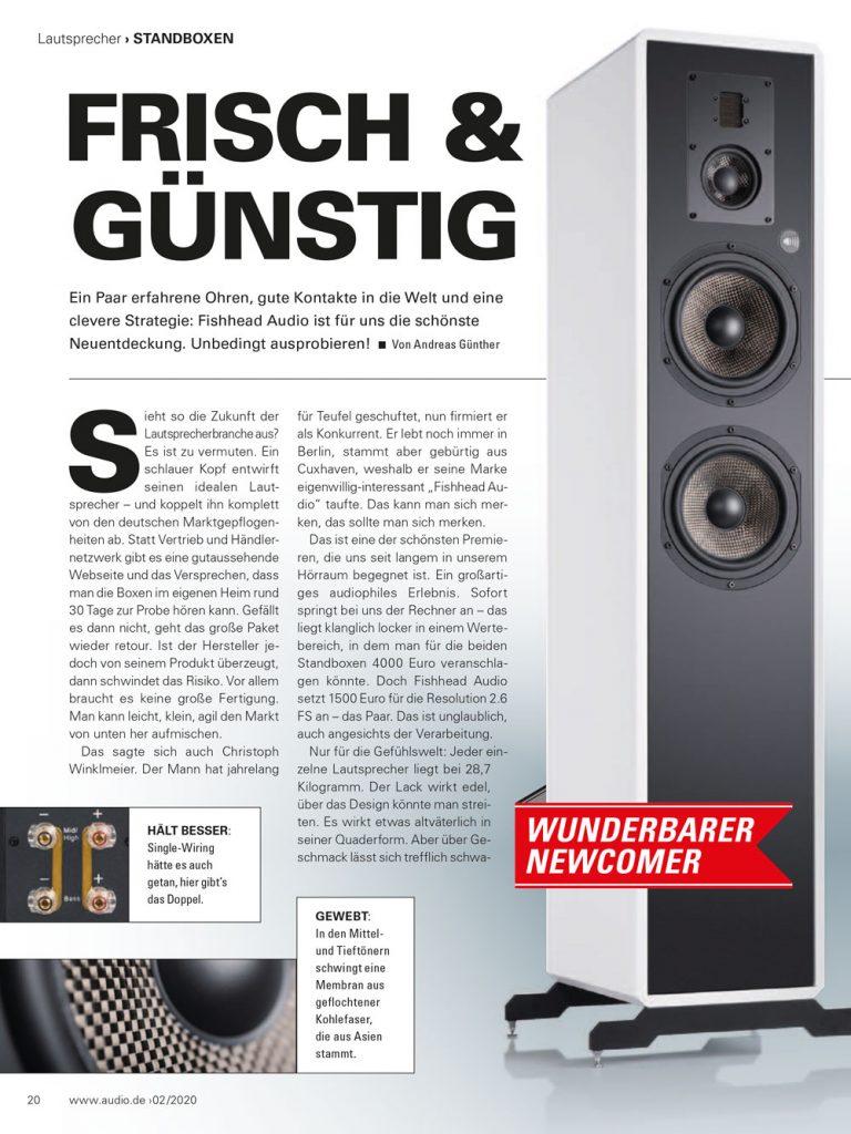 Fishhead Audio Resolution 2.6 FS Lautsprecher im Test: Audio.de - Empfehlung Preis/Leistung