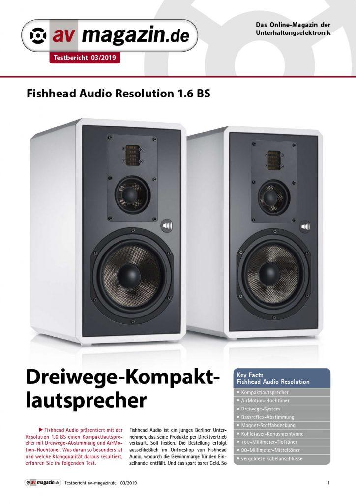 Fishhead Audio REsolution 1.6 BS im Test - av-magazin 03/2019